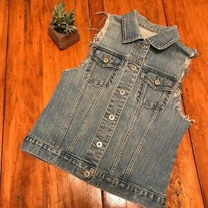 Gap Vintage Distressed Denim Vest